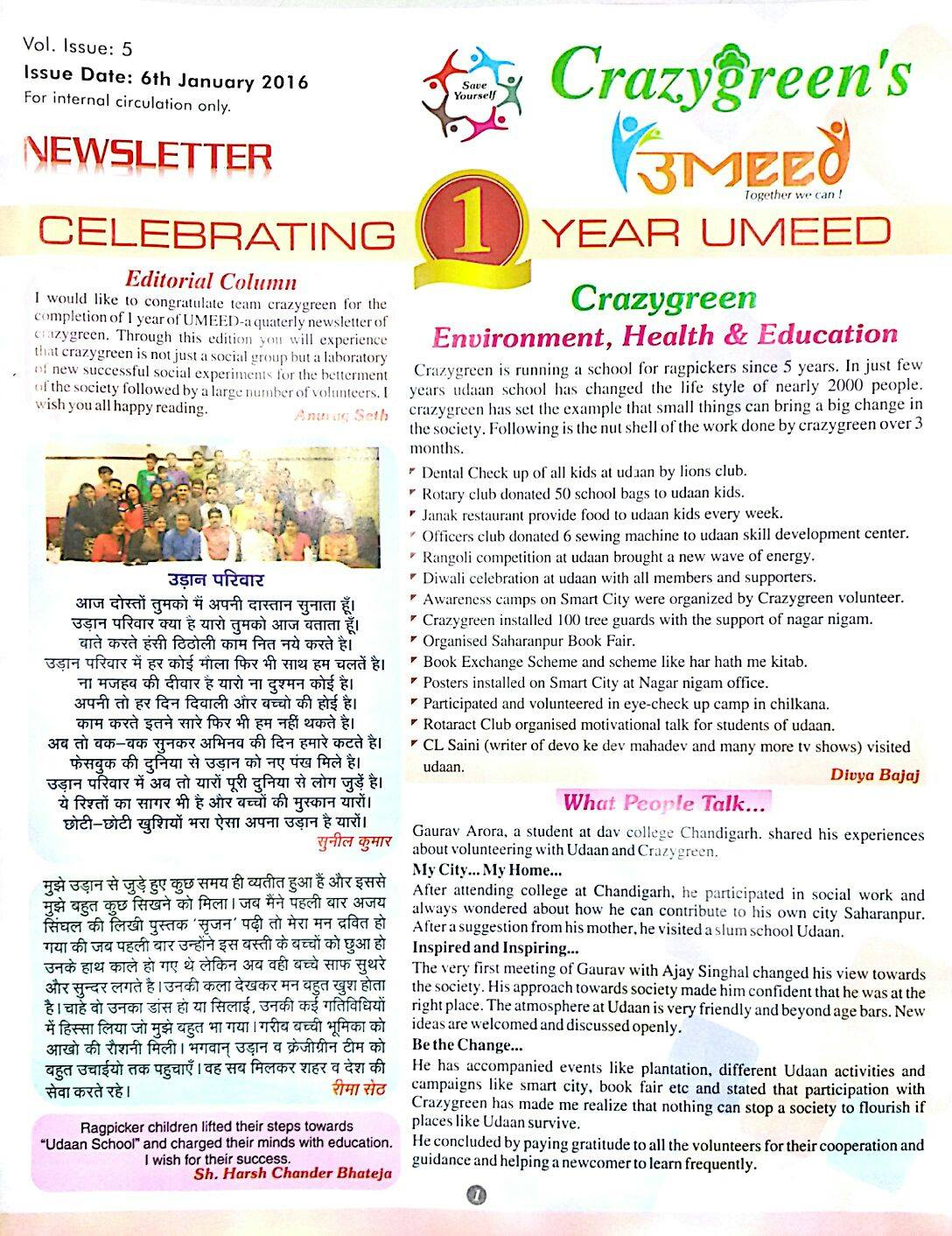 January 2016 Newsletter Page 1